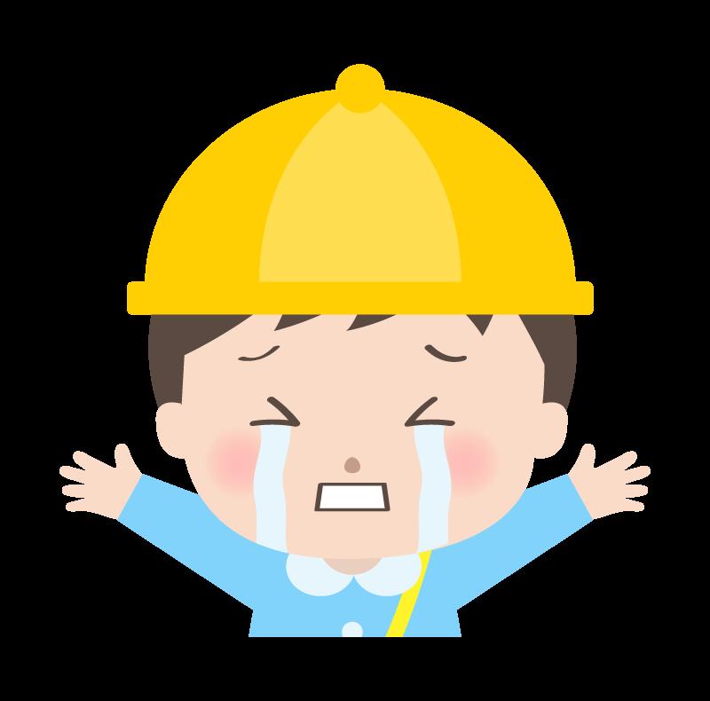泣いている幼稚園児のイラスト