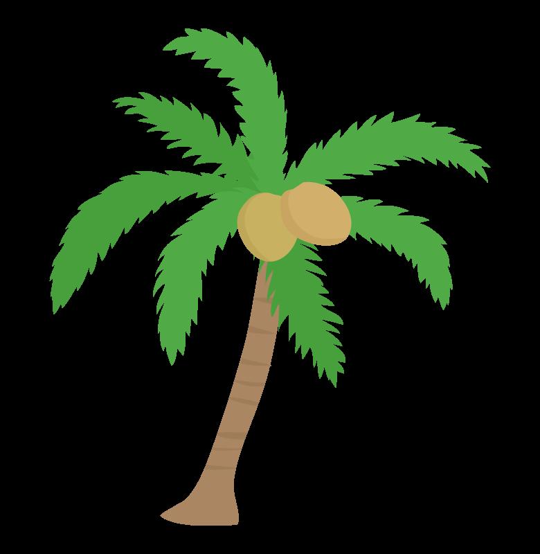 南国のヤシの木のイラスト