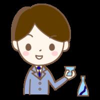 日本酒とサラリーマンのイラスト