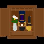 木のお仏壇のイラスト