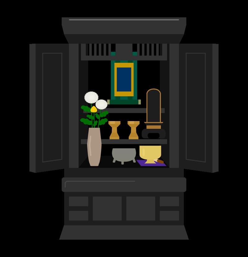 お仏壇のイラスト