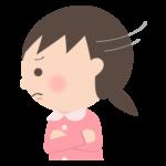 怒っている幼稚園児のイラスト