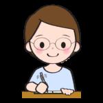 文章を書いている小説家のイラスト