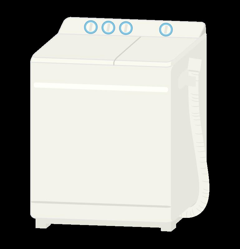 二層式洗濯機のイラスト