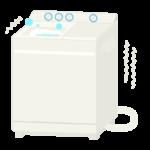 洗濯中の二層式洗濯機のイラスト