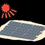 太陽とソーラーパネルのイラスト02