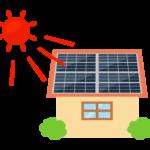 家とソーラーパネルのイラスト