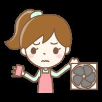 換気扇の掃除のイラスト
