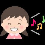 笑顔で歌っている幼稚園児のイラスト