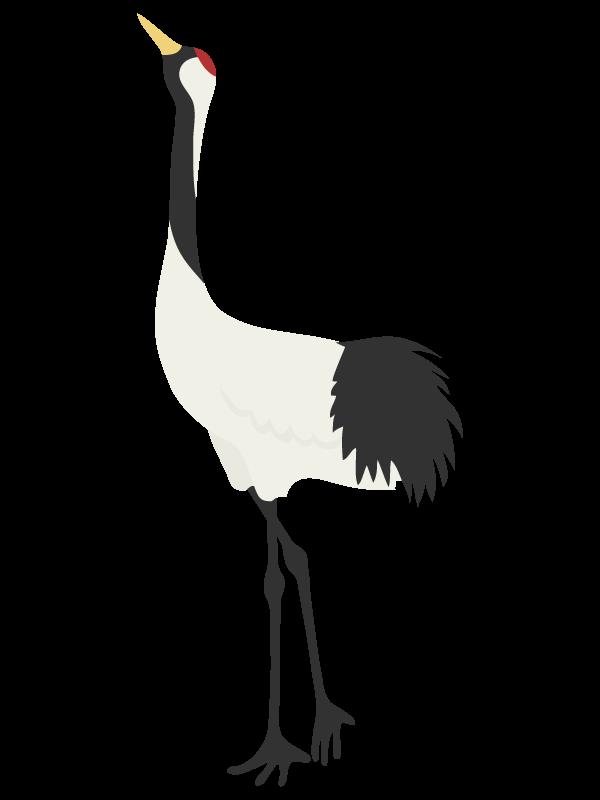 縁起物の鶴のイラスト