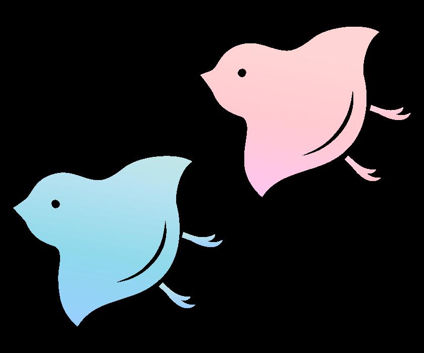 千鳥マーク(グラデーション)のイラスト