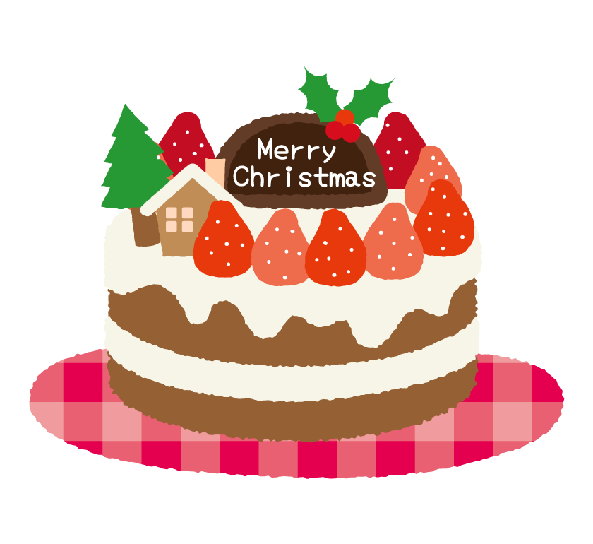 クリスマスケーキのイラスト