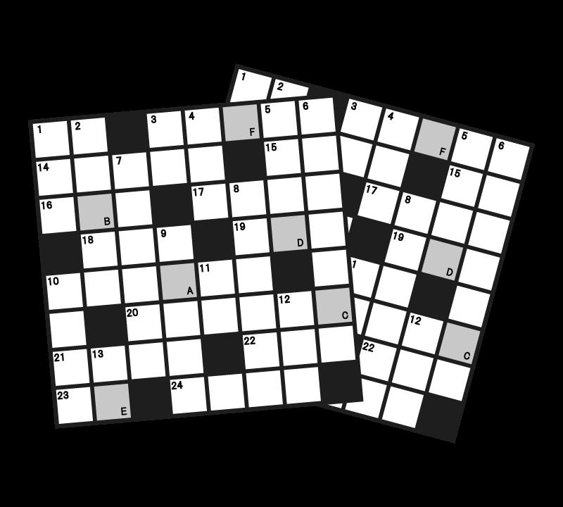 クロスワードパズルのイラスト