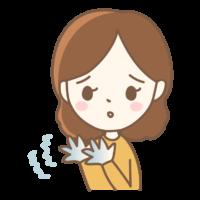 手の痺れのイラスト