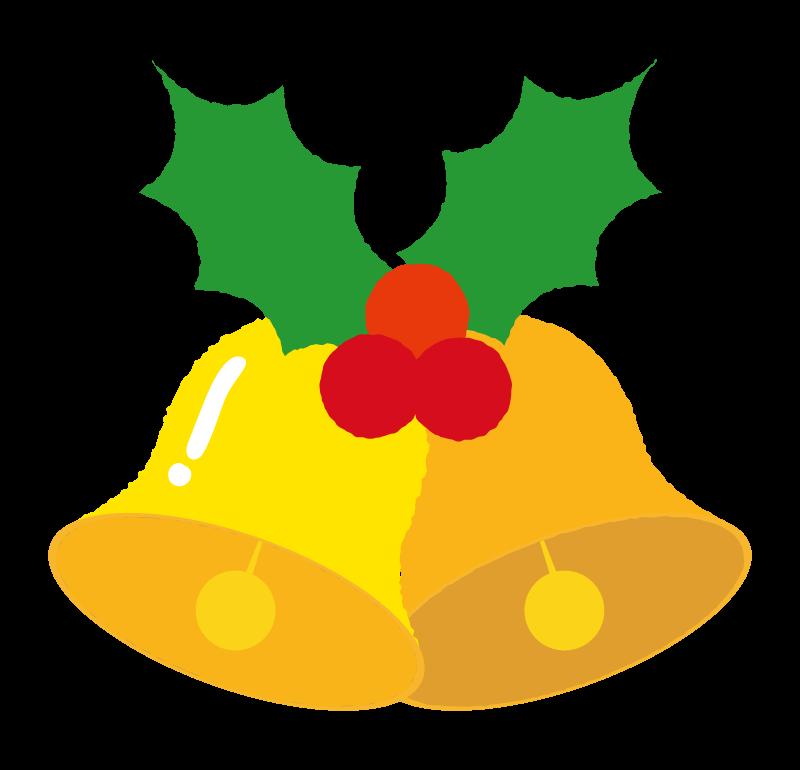 ヒイラギのクリスマスベルのイラスト