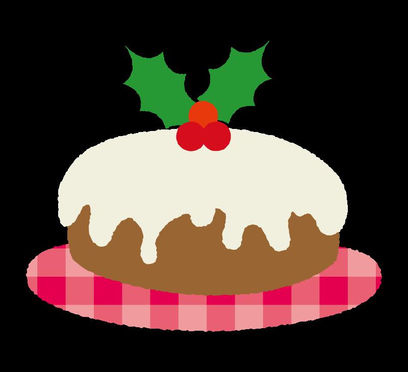 ヒイラギのクリスマスケーキのイラスト