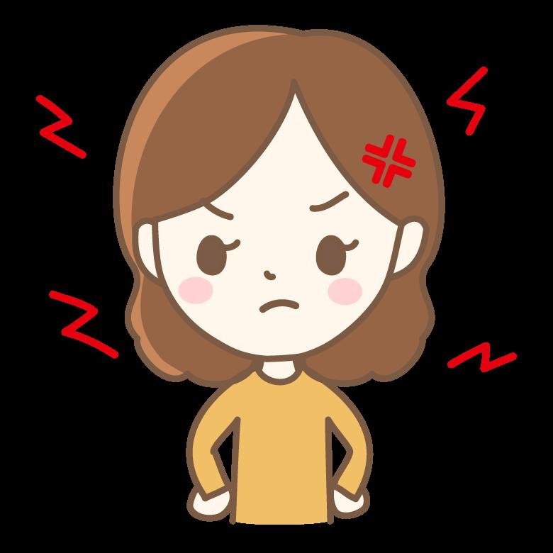 イライラ・怒っている女性のイラスト