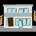 地震・家のイラスト