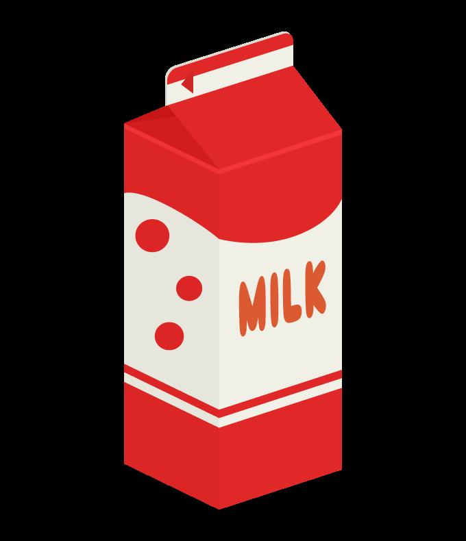 牛乳パック(1リットル)のイラスト