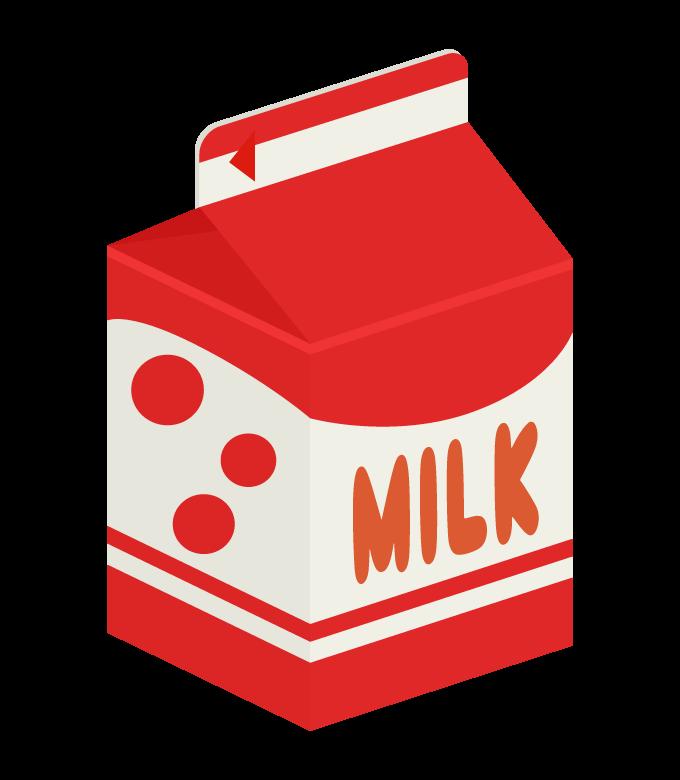 牛乳パック(500mL)のイラスト