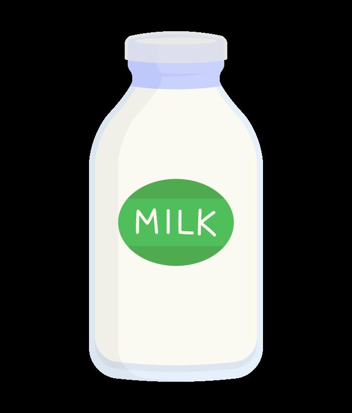 瓶の牛乳のイラスト
