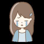 号泣している女性のイラスト