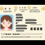 パスポート(中身)のイラスト