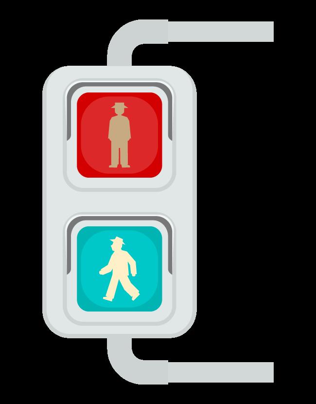 歩行者用信号機(青信号)のイラスト
