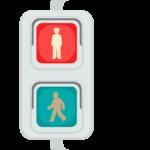 歩行者用信号機(赤信号)のイラスト