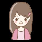 笑顔の表情の女性のイラスト
