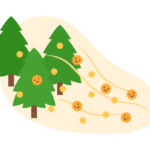 スギ花粉のイラスト