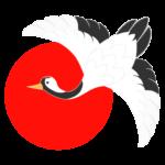 日の丸と鶴のイラスト