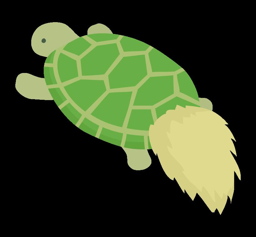 縁起物の亀のイラスト