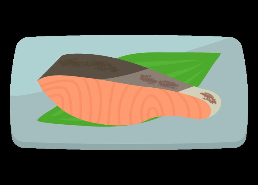 鮭(焼き魚)のイラスト