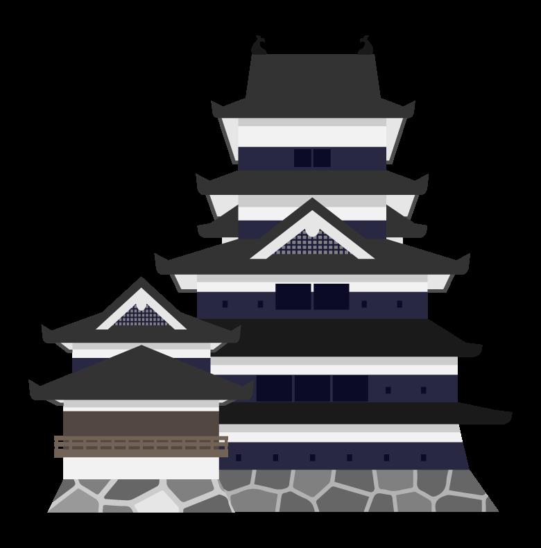 松本城のイラスト