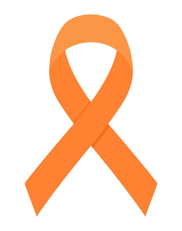 アウェアネス・リボン(オレンジ)のイラスト