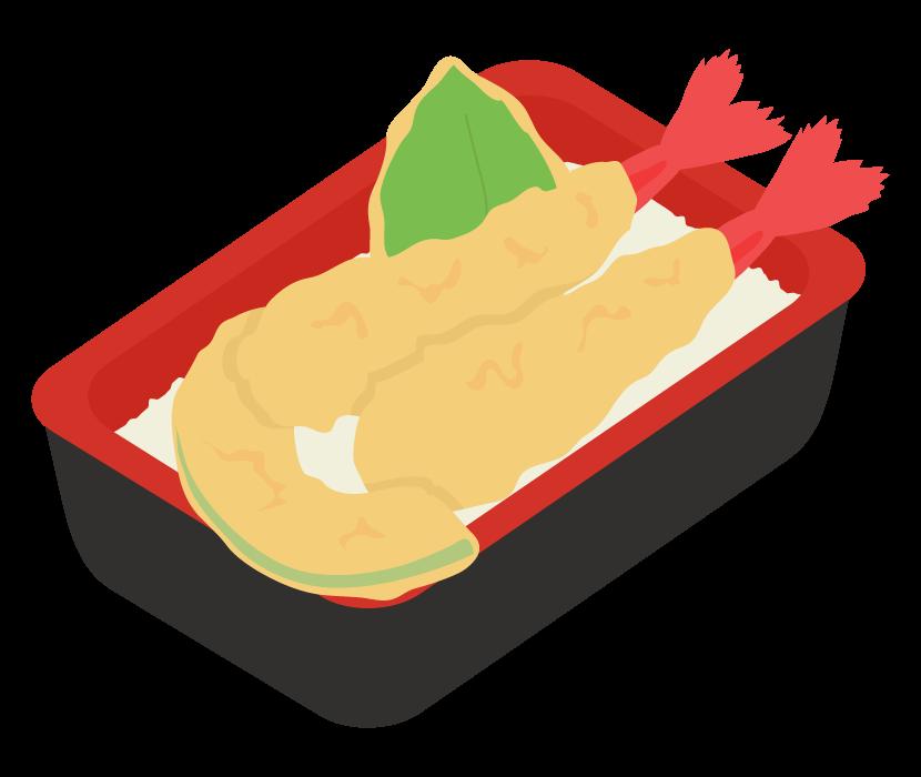 天丼(テイクアウト・お弁当)のイラスト