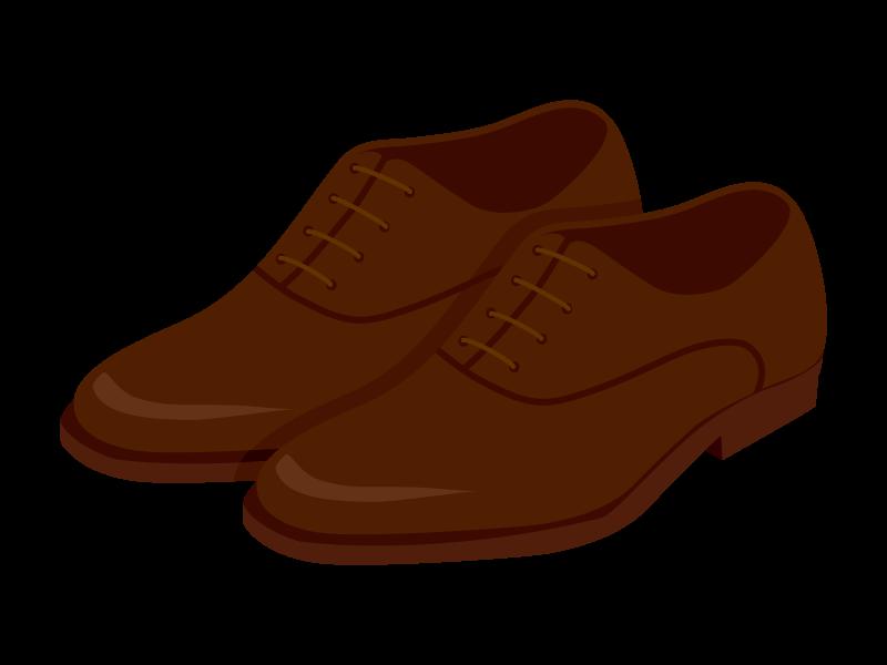 茶色い革靴のイラスト