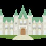 外国のお城のイラスト
