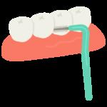 歯間ブラシのイラスト02