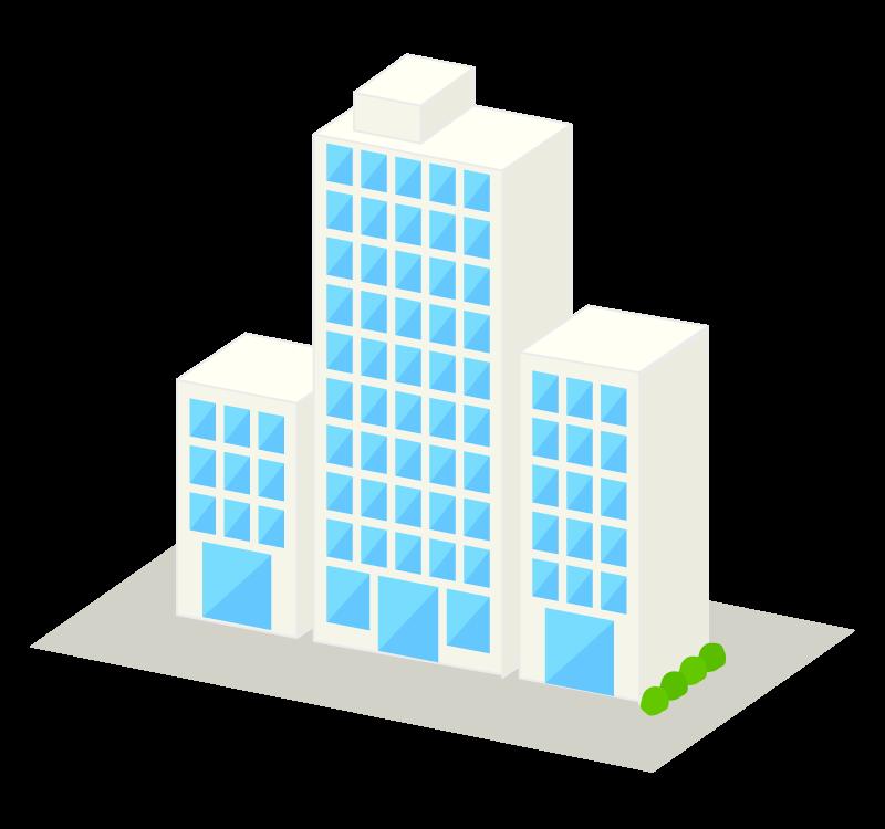 立体的なビルのイラスト