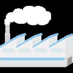 煙突のある工場のイラスト