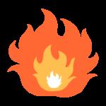 激しく燃える炎のイラスト02