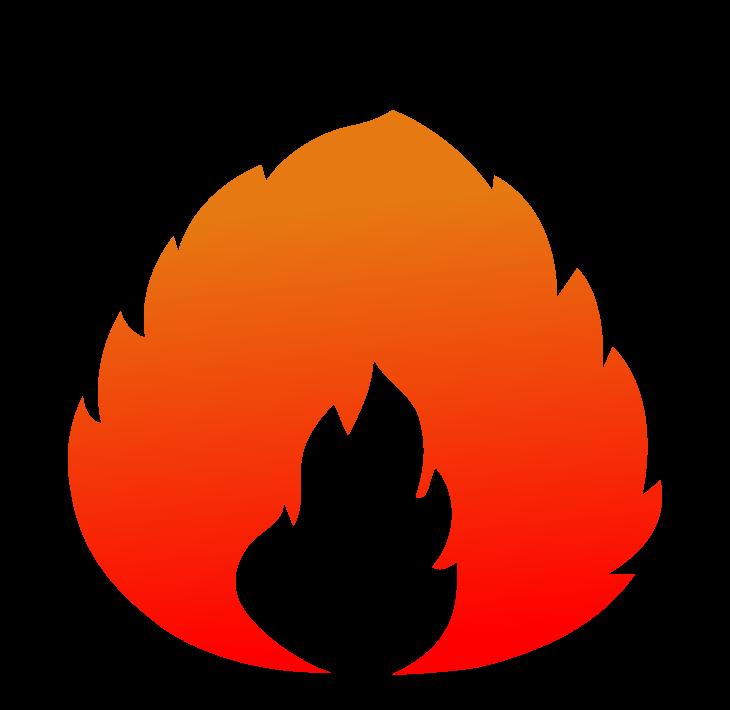 メラメラ燃える炎のイラスト
