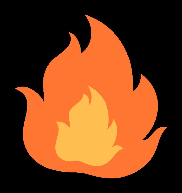 メラメラ燃える炎のイラスト02