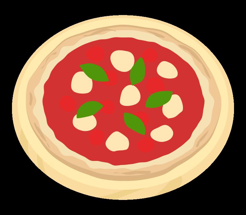 ピザ・マルゲリータのイラスト