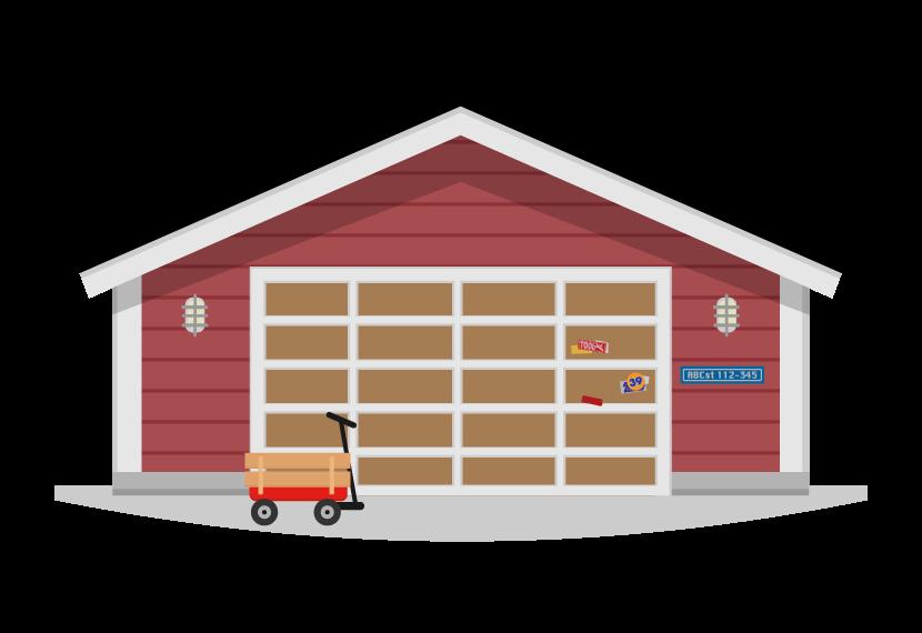ガレージ・倉庫のイラスト
