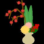 生け花のイラスト
