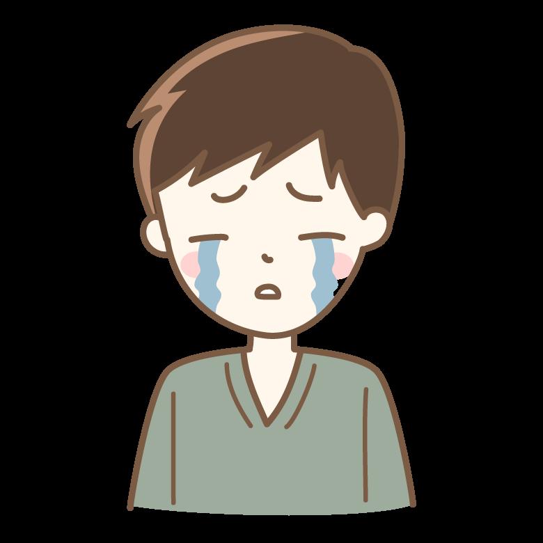 号泣している男性のイラスト