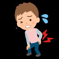 腰痛(男性)のイラスト